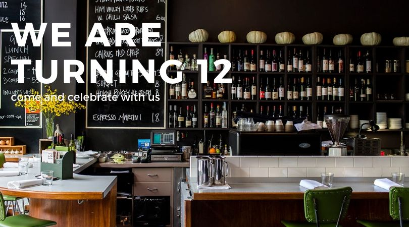 For the whole month of July, we are celebrating 12 years with  - $12 cocktails  - $12 wines by the glass  - $12 entrees  - $12 desserts